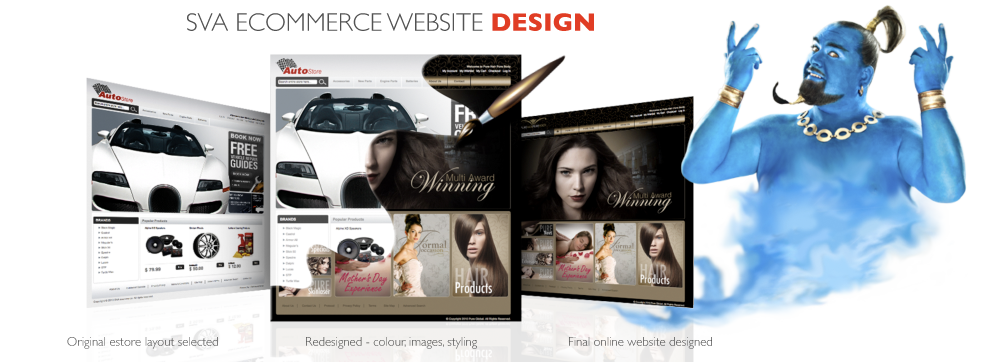 SVA Ecommerce website design